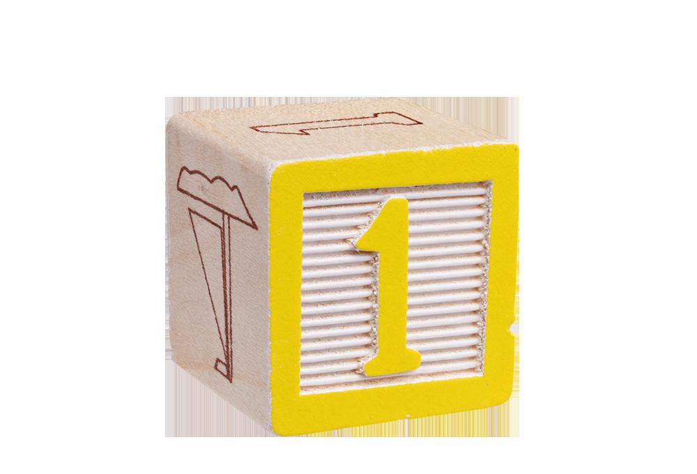 Number 1 toy block
