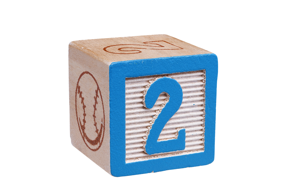 Number 2 toy block