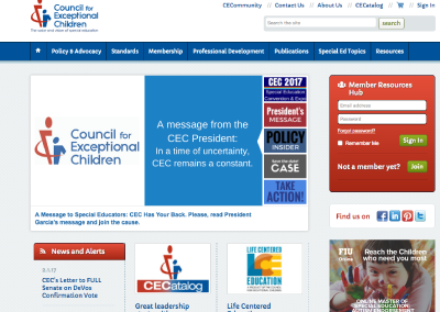 Council for Exceptional Children (CEC)
