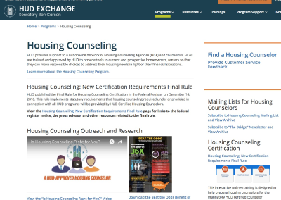 HUD Exchange Housing Counseling Referral Service