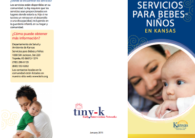 Infant-Toddler Services in Kansas Brochure – Spanish