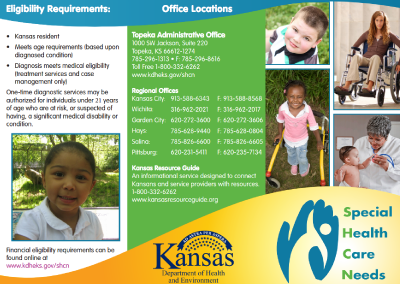 KDHE Special Health Care Needs Brochure