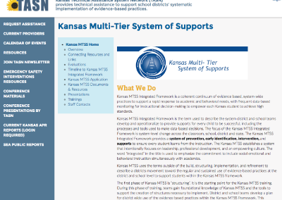 Kansas Multi-Tier System of Supports