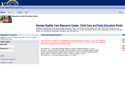 Kansas Quality Care Resource Center: Child Care and Early Education Portal