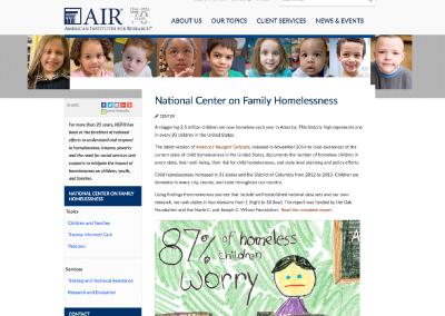 National Center on Family Homelessness (NCFH)
