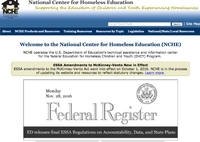 National Center for Homeless Education