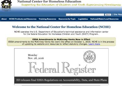 National Center for Homeless Education