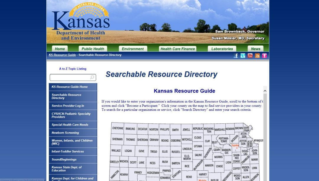 Kansas Resource Guide – Searchable Resource Directory