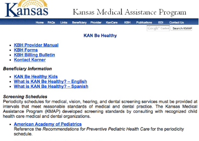 Kansas Medical Assistance Program