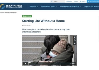 Zero to Three – Starting a Life Without a Home