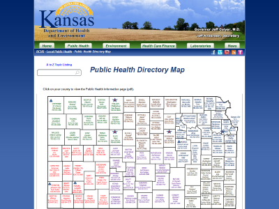 KDHE Map