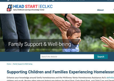 Supporting Children and Families Experiencing Homelessness