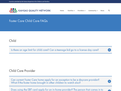 Foster Care Child Care FAQs