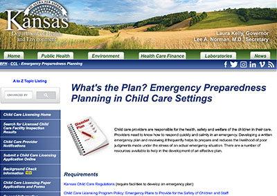 Emergency Preparedness Planning in Child Care Settings